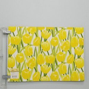 Rose Tree Spring Yellow Tulip Placemat Set of 8